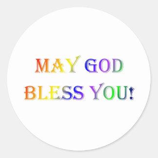INSPIRATIONAL RELIGIOUS FAITH CLASSIC ROUND STICKER