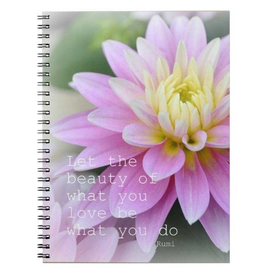 Inspirational Rumi Journal Notebook