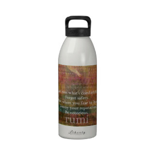 inspirational Rumi life quote Reusable Water Bottles