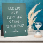 Inspirational Rumi Quote Live Life as if... Display Plaque
