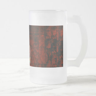 Inspirational Rumi What You Seek Quote Frosted Glass Beer Mug