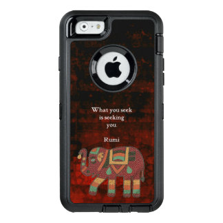 Inspirational Rumi What You Seek Quote OtterBox Defender iPhone Case