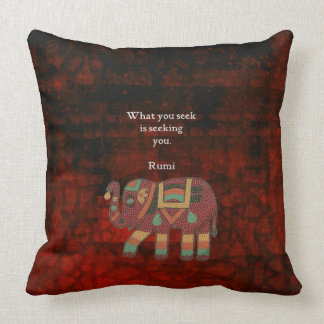 Inspirational Rumi What You Seek Quote Throw Pillow