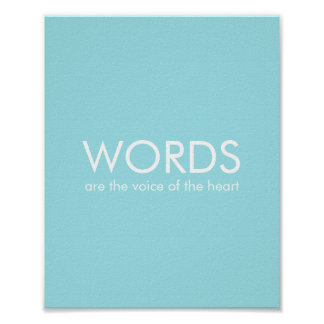 Inspirational Sayings Confucius Quotes Blue 8x10 Print