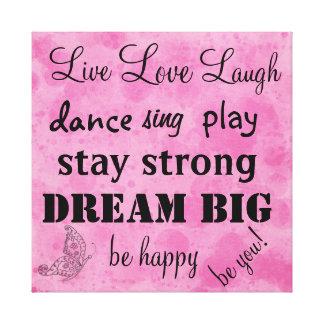 Live Laugh Love Wrapped Canvas Prints Zazzle