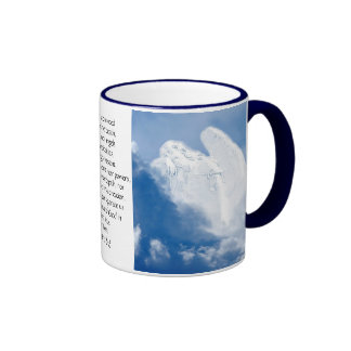 Inspirational Scripture Angel In Clouds, Romans Coffee Mug