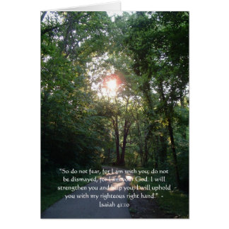 Inspirational Scripture Card: Isaiah 41:10 Card