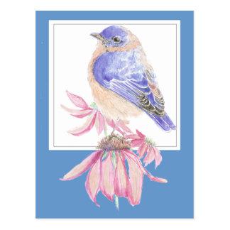 Inspirational Scripture Isaiah 40:10 Bluebird Postcard