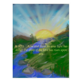 Inspirational scripture picture postcard
