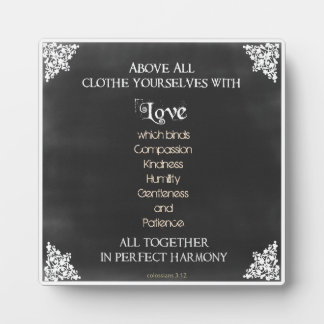 Inspirational Scripture Quote Plaque
