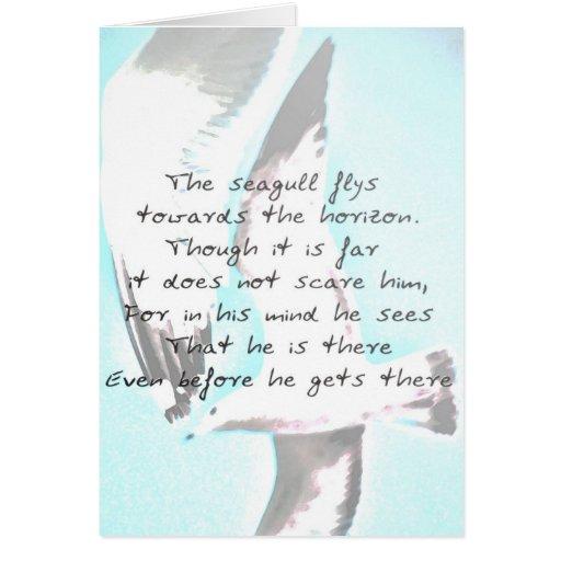 Inspirational Seagull Card