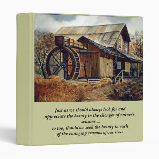 Inspirational Seasons of Our Lives 3 Ring Binder