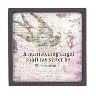 Inspirational Shakespeare sister quote Jewelry Box