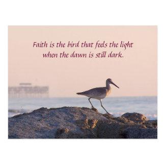 Inspirational Shore Bird Morning Postcard