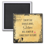 Inspirational Sister Quote 2 Inch Square Magnet