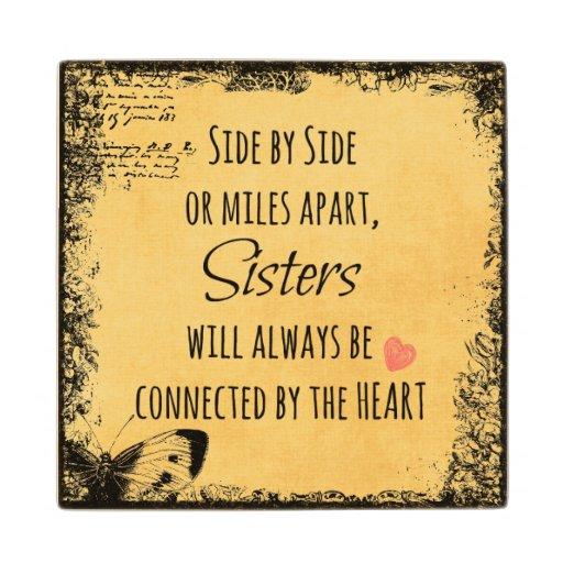 inspirational sister quote maple wood coaster zazzle