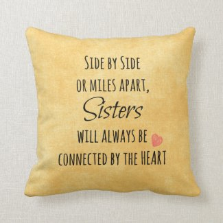 Inspirational Sister Quote Pillow