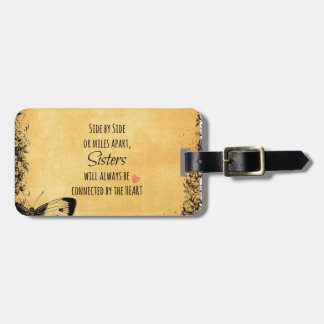 Inspirational Sister Quote Tag For Luggage