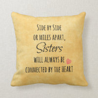 Inspirational Sister Quote Throw Pillow