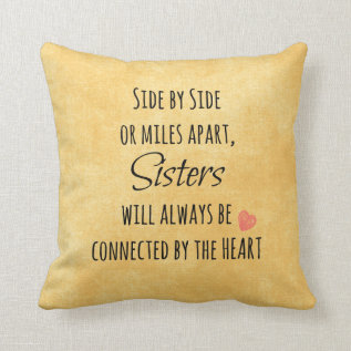 Inspirational Sister Quote Throw Pillow at Zazzle