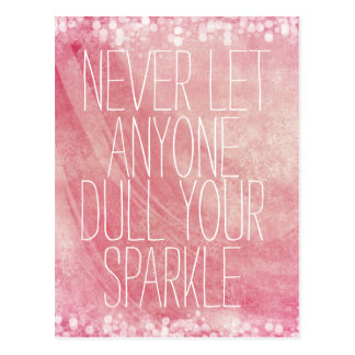 Inspirational Sparkle Quote Postcard
