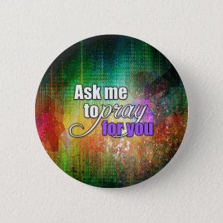 Inspirational Spiritual Christian Prayer Warrior Pinback Button