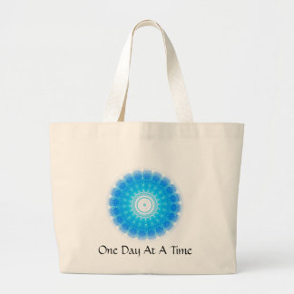 inspirational Spiritual Quote - One Day at a Time Tote Bags