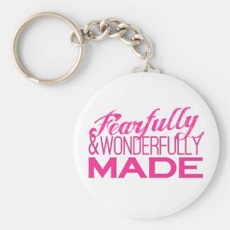 Inspirational Statement in Hot Pink Keychain