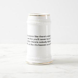 Inspirational Stein 18 Oz Beer Stein