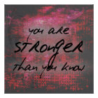 Inspirational Strength Quote Poster