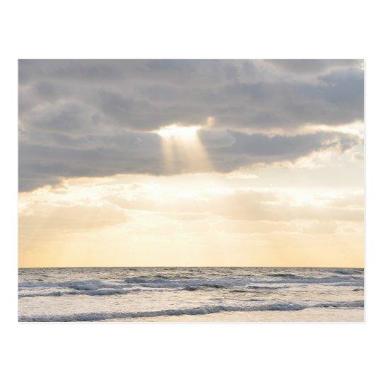 Inspirational Sun Rays Parting Clouds Postcard