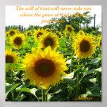 Inspirational Sunflower Poster