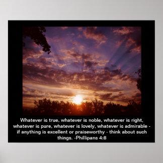 Inspirational sunrise poster
