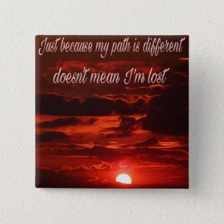 Inspirational sunset design. pinback button