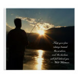 Inspirational Sunset  Fishing Silhouette Poster