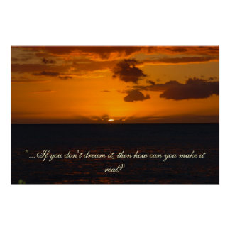 Inspirational Sunset Poster