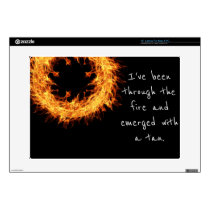 "Inspirational survivor message 15"" laptop skin"