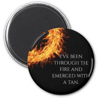 Inspirational survivor message magnet