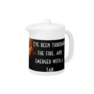 Inspirational survivor message teapot