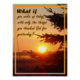 Inspirational Thank God Poster