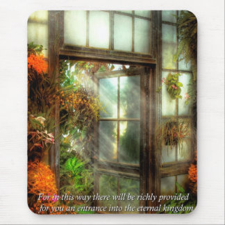 Inspirational - The door to paradise - Peter 1-11 Mouse Pads