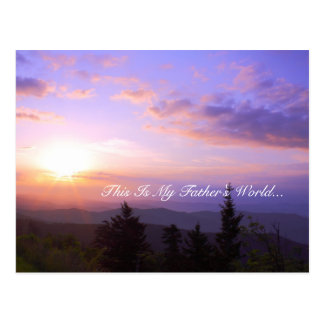 Inspirational: This Is My Father's World Postcard