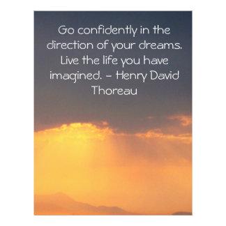 "Inspirational Thoreau Quote 8.5"" X 11"" Flyer"