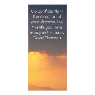 Inspirational Thoreau Quote Rack Card