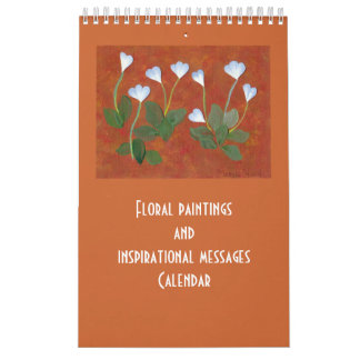 inspirational thought with flowers calendar