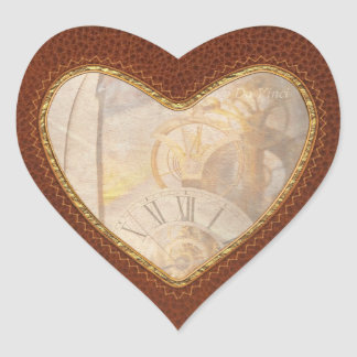 Inspirational - Time - A look back in time Heart Sticker