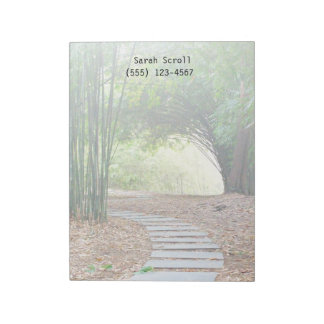 Inspirational Tranquil Bamboo Path Trail Custom Notepad