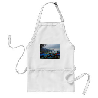 Inspirational Travel quote DISCOVERY boat photo Adult Apron