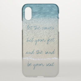 Inspirational Turquoise Blue Ocean Surf Waves iPhone X Case