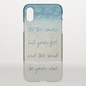 CaseConceptCreations Inspirational Turquoise Blue Ocean Surf Waves iPhone X Case